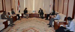 وزير الطاقة السوداني خلال لقاءه سفيرة السويد