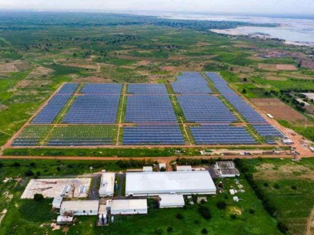 محطة طاقة شمسية تابعة لشركة إنجي الفرنسية في السنغال