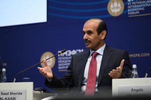 جانب من مشاركة وزير الطاقة القطري