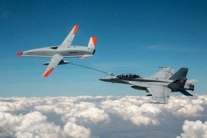 طائرة دون طيار - البحرية الأميركية- الوقود الجوي