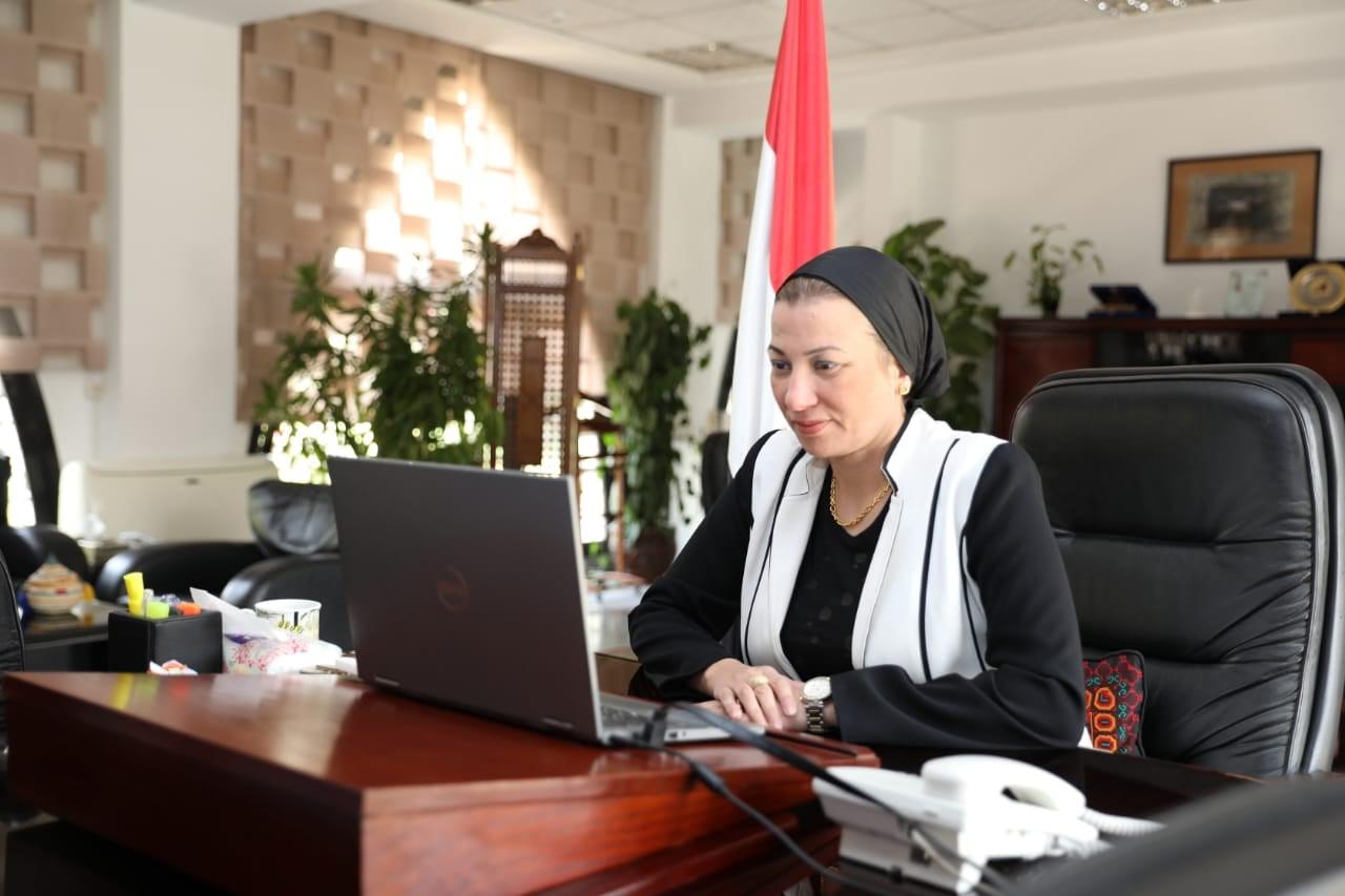 مصر - وزيرة البيئة المصرية خلال مشاركتها في الإجتماع الوزاري التحضيري لمحادثات المناخ