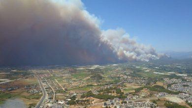Photo of حريق مرعب في غابات أنطاليا التركية.. و15 طائرة تشارك في الإطفاء (فيديو)