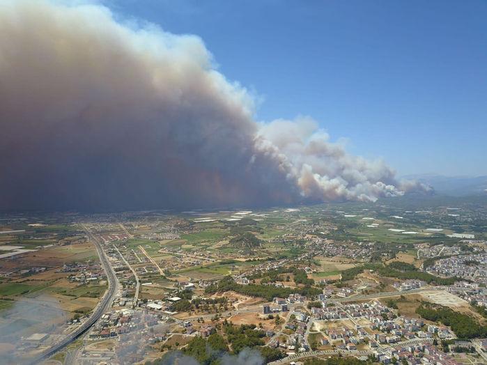 حريق غابات أنطاليا في تركيا