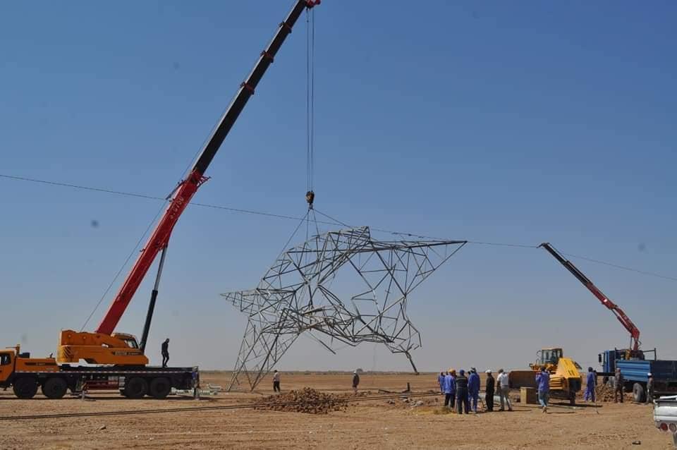 العراق- أبراج الكهرباء