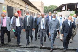 بوروندي - الوزير البوروندي خلال وصوله لمقر وزارة الكهرباء المصرية
