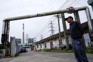 محطة توليد كهرباء بالفحم في مدينة شنغهاي في الصين