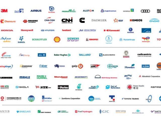 العلامات التجارية للشركات الأعضاء في مجلس الهيدروجين
