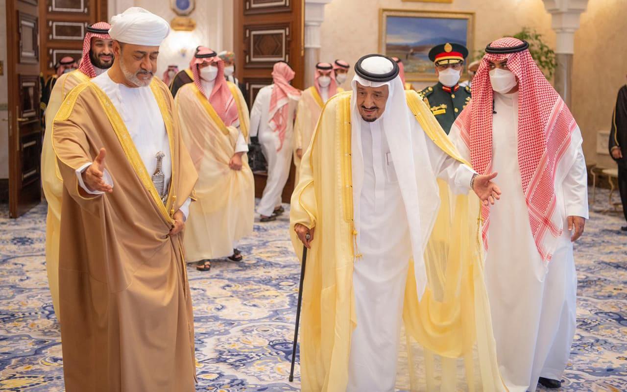 بيان سعودي عماني - جانب من زيارة سلطان عمان إلى السعودية