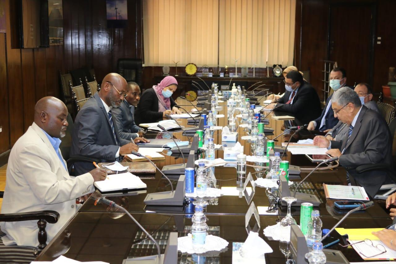 جانب من جلسة المباحثات بين مصر وبوروندي