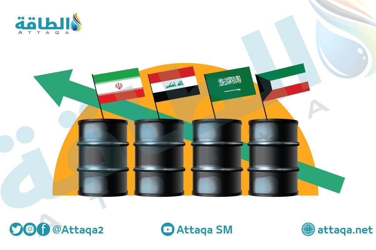 أسعار النفط السعودي والعراقي والكويتي والإيراني