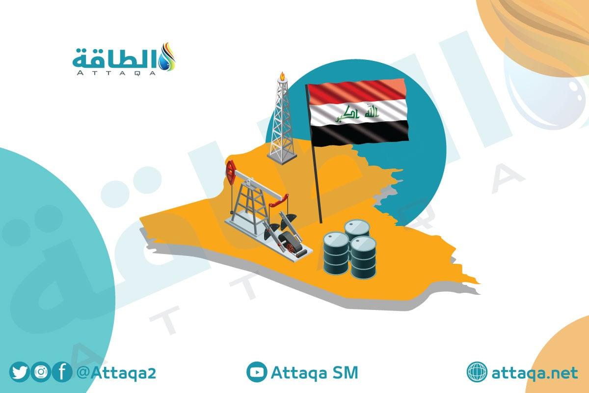 حقول الغاز + النفط والغاز في العراق