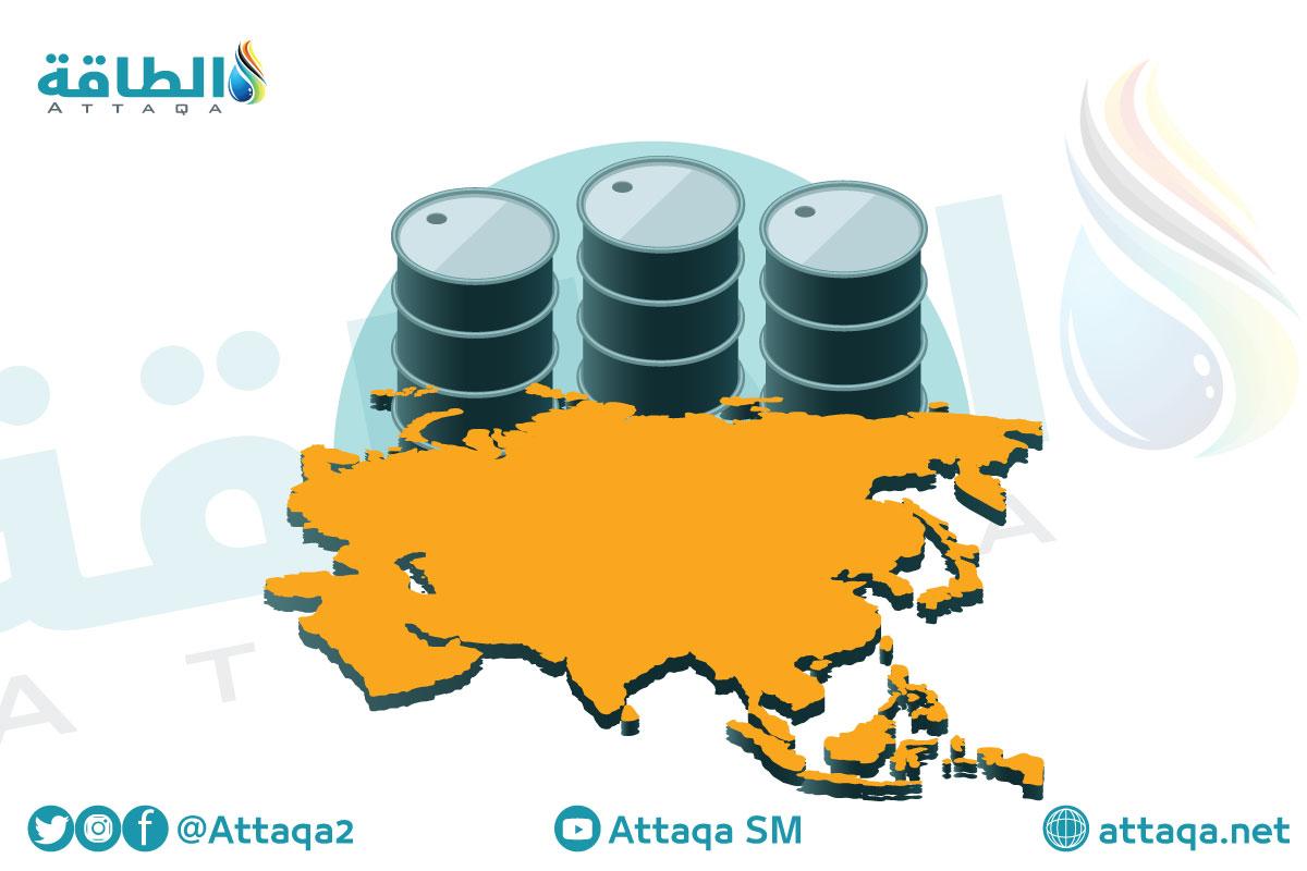 النفط في آسيا