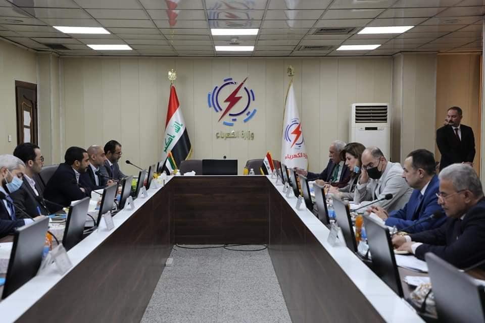 العراق - جانب من المباحثات العراقية الإماراتية - الصورة من وزارة الكهرباء العراقية (16 سبتمبر 2021)