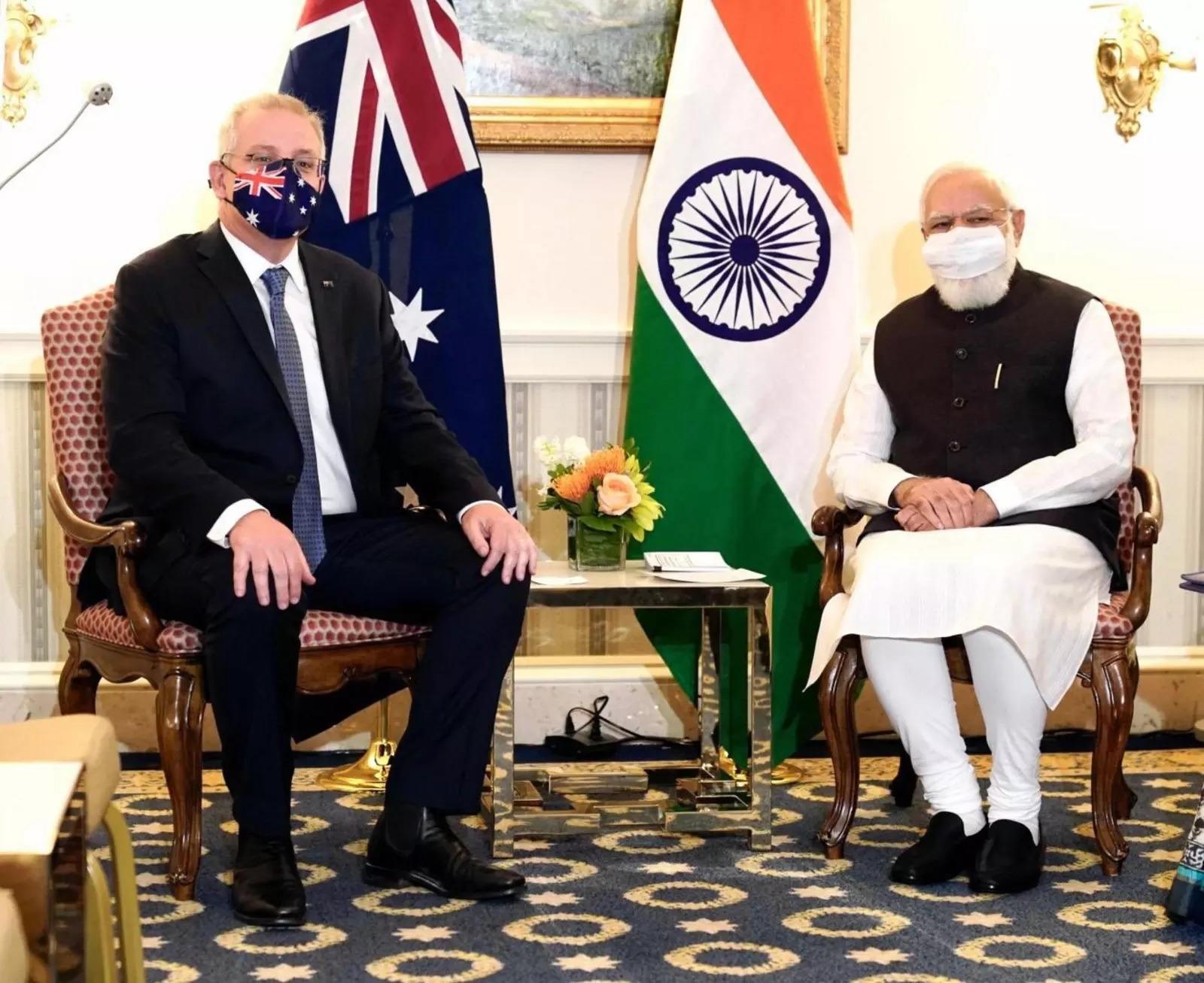 اجتماع رئيس وزراء الهند بنظيره الأسترالي
