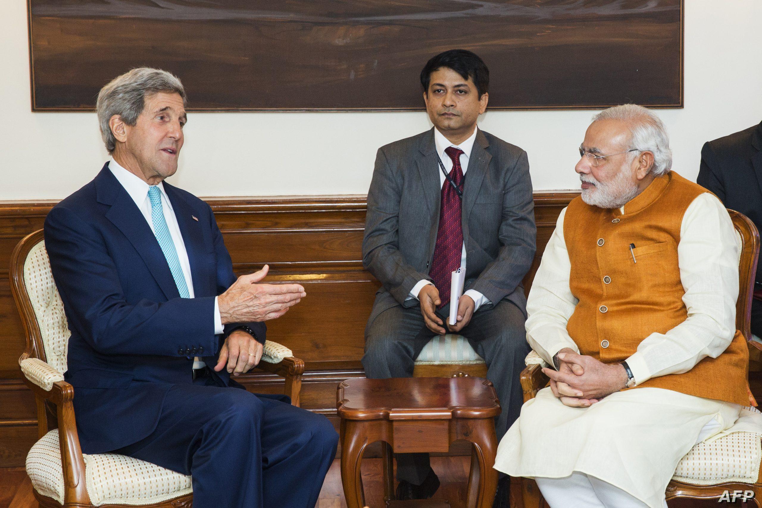 الطاقة المتجددة في الهند - لقاء سابق بين جون كيري ورئيس الوزراء الهندي
