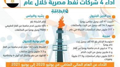 Photo of أداء 4 شركات نفط تابعة لوزارة البترول المصرية (إنفوغرافيك)