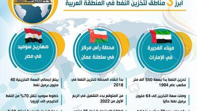 Photo of التخزين التجاري للنفط في المنطقة العربية.. تعرف على أبرز 3 مناطق (إنفوغرافيك)