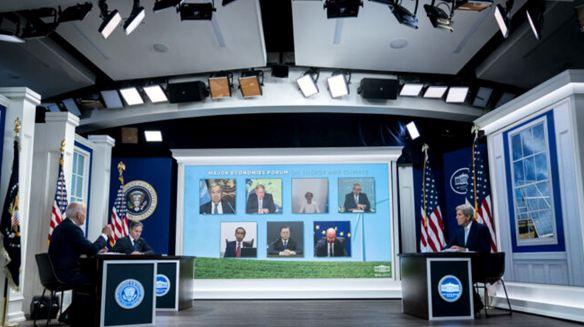 مشاركة الرئيس الأميركي جو بايدن في المنتدى الأول للاقتصادات الكبرى بشأن الطاقة والمناخ