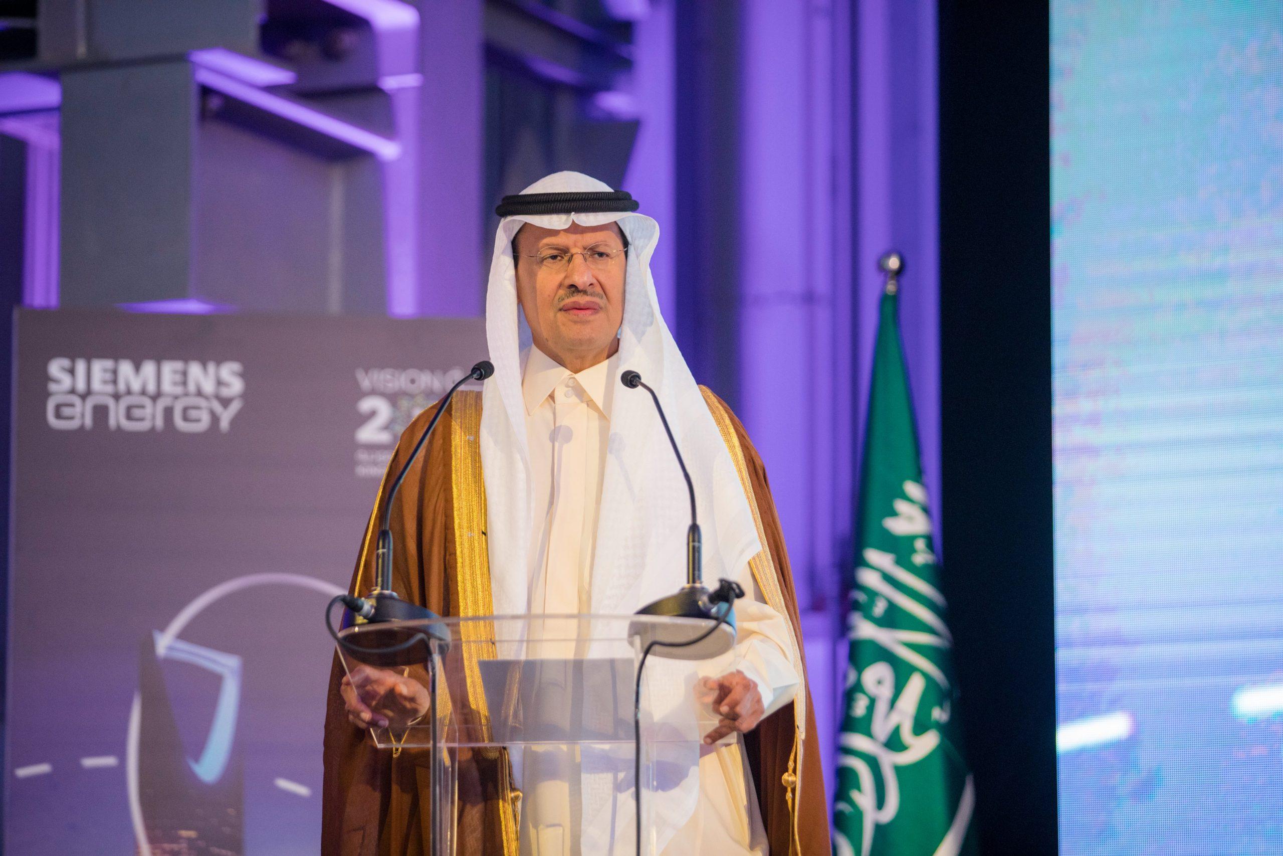 وزير الطاقة السعودي خلال احتفالية تدشين توسعات سيمنس